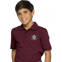 Burgundy Youth Polo