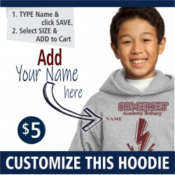 PERSONALIZATION NAME  Pullover Youth Hooded Sweatshirt