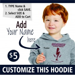 PERSONALIZATION NAME    Pullover Toddler & Youth Hooded Sweatshirt